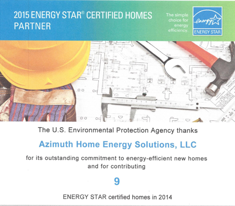 EPA Energy Star Certificate click to view